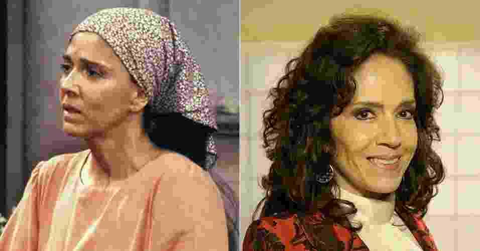 """Yoná Magalhães era Tonha, mãe da personagem de Tássia Camargo. Após """"Tieta"""", atuou em """"Meu Bem, Meu Mal"""", """"Despedida de Solteiro"""", """"Era uma Ves"""", entre outras na década de 1990. Sua última novela foi em """"Sangue Bom"""" (2013"""", como a personagem Glória Pais - TV Globo/Divulgação"""