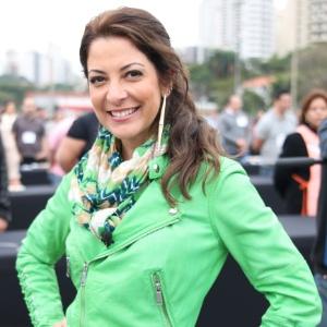 """Ana Paula Padrão durante gravações do """"Masterchef"""", na Band"""