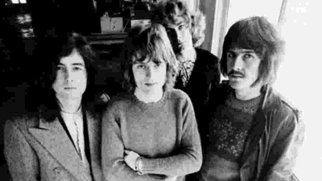 """Imagem dos integrantes do Led Zeppelin incluída no livro """"Led Zeppelin First U.S. Tour Portraits"""", do fotógrafo Herb Greene - Reprodução"""