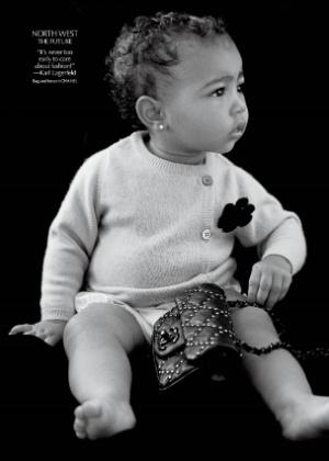 """North West no editorial da revista de moda """"CR Fashion Book"""" - Michael Avedon/Divulgação"""