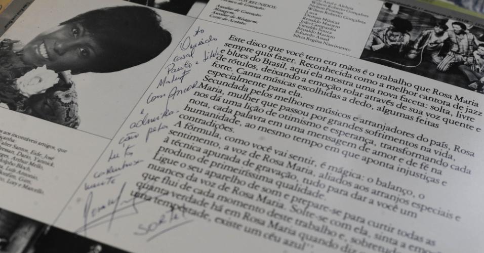 15.ago.2014 - Na coleção de Zero Freitas, álbum com dedicatória ao político Paulo Maluf e sua esposa Sylvia