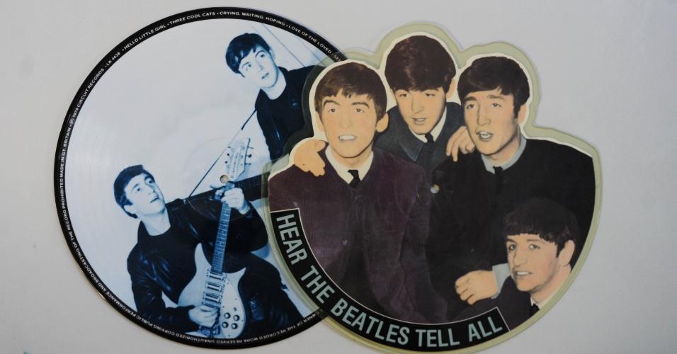 15.ago.2014 - Na coleção de Zero Freitas, picture discs dos Beatles, lançados nos anos 60