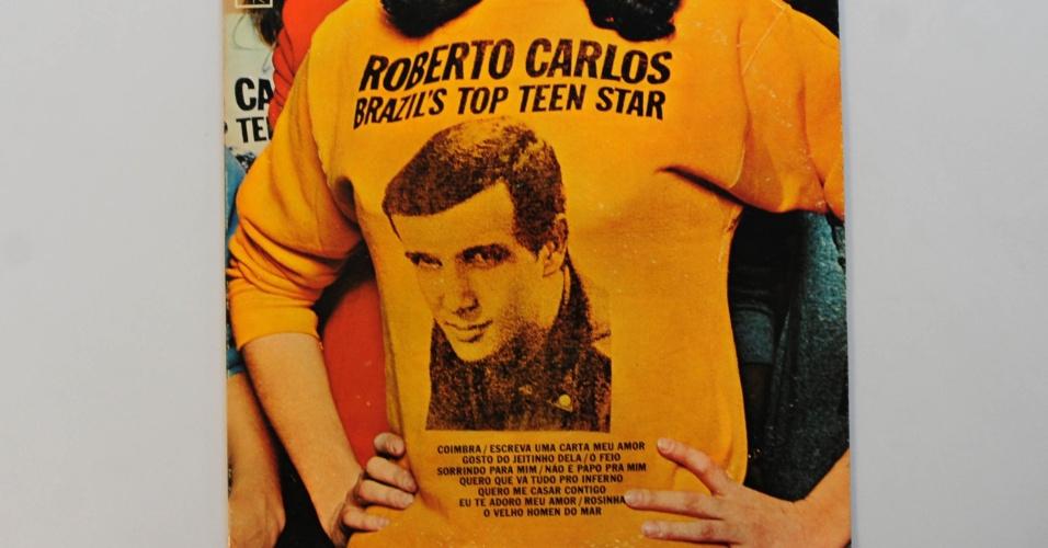 """15.ago.2014 - Na coleção de Zero Freitas, Roberto Carlos """"Brazils Top Teen Star"""", lançado nos Estados Unidos"""