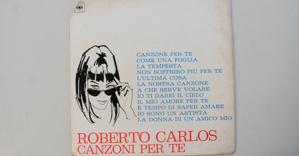"""15.ago.2014 - Na coleção de Zero Freitas, """"Canzone Per Te"""" (1968), raro álbum de Roberto Carlos lançado pela CBS italiana"""