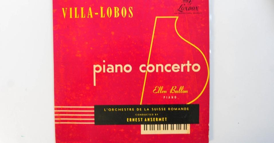15.ago.2014 - Na coleção de zero Freitas, Piano Concerto, de Heitor Villa-Lobos