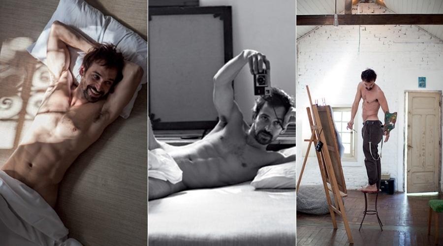 """15.ago.2014 - Julio Andrade, que está em cartaz no filme """"Não Pare na Pista"""", cinebiografia de Paulo Coelho, fez ensaio sensual para a """"Revista Tpm"""""""