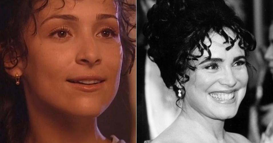 Gabriela Duarte deu vida à Chiquinha Gonzaga até os 30 anos na minissérie de mesmo nome da personagem em 1999. Depois, Regina Duarte, mãe da atriz na vida real, emprestou o seu talento para interpretar a revolucionária que enfrenta a sociedade da época