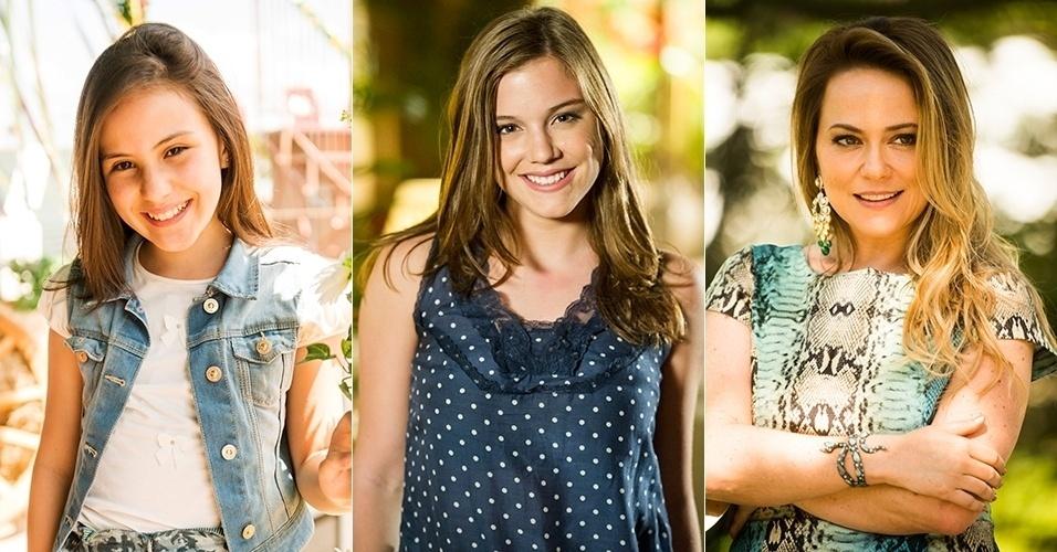 """Giovanna Rispoli, Alice Wegmann e Vivianne Pasmanter deram vida à rival de Helena nas três fases da novela """"Em Família"""" (2014)"""
