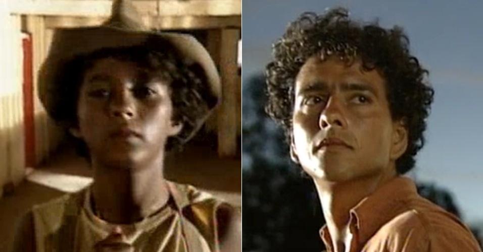 """Pablo Sobral e Marcos Palmeira fizeram João Pedro em """"Renascer"""" (1993)"""