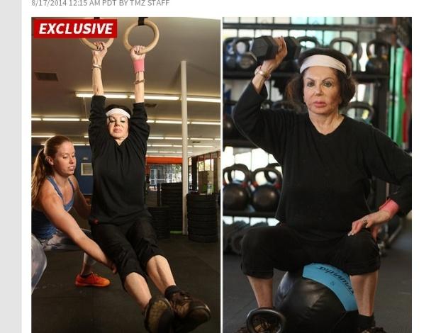 Jackie Stallone mostra como mantém a forma aos 92 anos