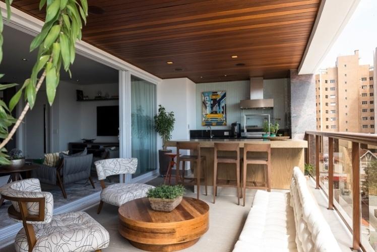 Com integra o e varanda gourmet decora o de ap for Cocinas externas