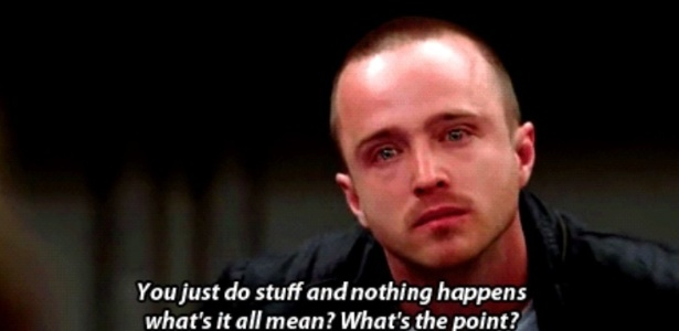"Aaron Paul como Jesse Pinkman em cena da quarta temporada de ""Breaking Bad"""