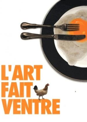 """Cartaz da exposição """"L""""Art Fait Ventre"""" - Divulgação"""