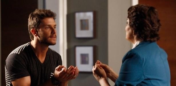 """Em """"Império"""", Leonardo recebe a visita inesperada de Beatriz"""