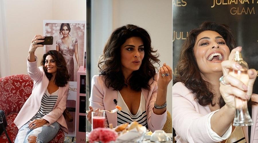 19.ago.2014 - Juliana Paes se reuniu com a imprensa para um café da manhã que promoveu sua nova fragrância