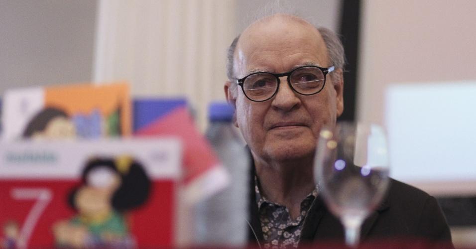 19.ago.2014 -  O cartunista argentino Joaquín Salvador Lavado, o Quino, criador da personagem Mafalda