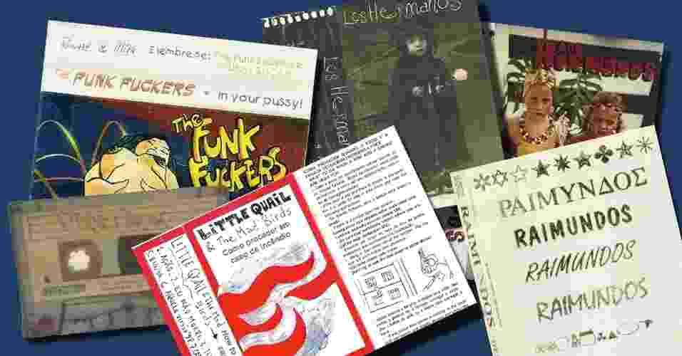 Montagem com capas de fitas demo para álbum - Montagem UOL/Reprodução Demo Tapes Brasil
