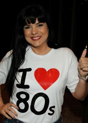 A cantora Mara Maravilha durante um show em comemoração aos 30 anos de Simony - Amauri Nehn/Photo Rio News