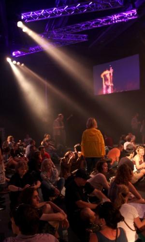 Interior de uma das salas de shows do 48° Montreux Jazz Festival que aconteceu nesta cidade suíça, no último mês de julho