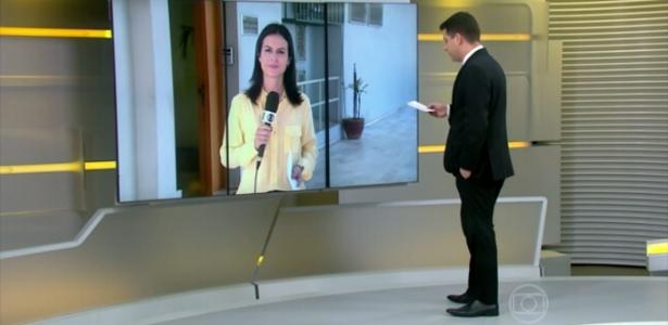 """Evaristo Costa se confunde e chama repórter de """"Viviane Araújo"""" no """"Jornal Hoje"""""""