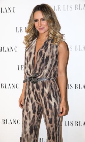 22.ago.2014 - Claudia Leitte prestigiou o lançamento da nova coleção de uma grife feminina. O evento aconteceu no bairro dos Jardins, em São Paulo