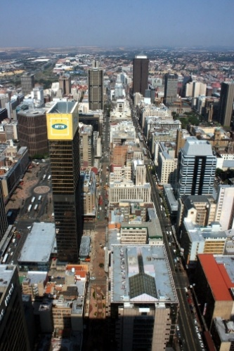Centro financeiro de Johannesburgo da torre 'Top of Africa', edifício de 50 andares considerado o prédio mais alto de todo o continente africano