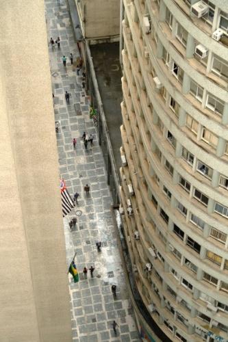 Centro histórico de São Paulo visto do mirante do Edifício Martinelli, uma das  opções para observar a cidade do alto