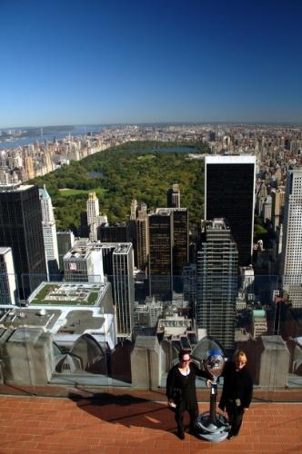 Nova York vista do Top of the Rock, terraço de três andares localizado no 70º do edifício Rockefeller Center