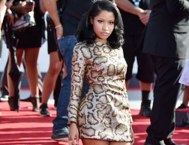 24.ago.2014 - A rapper Nicki Minaj chega ao VMA 2014 (Video Music Awards) no Fórum de Inglewood, na Califórnia