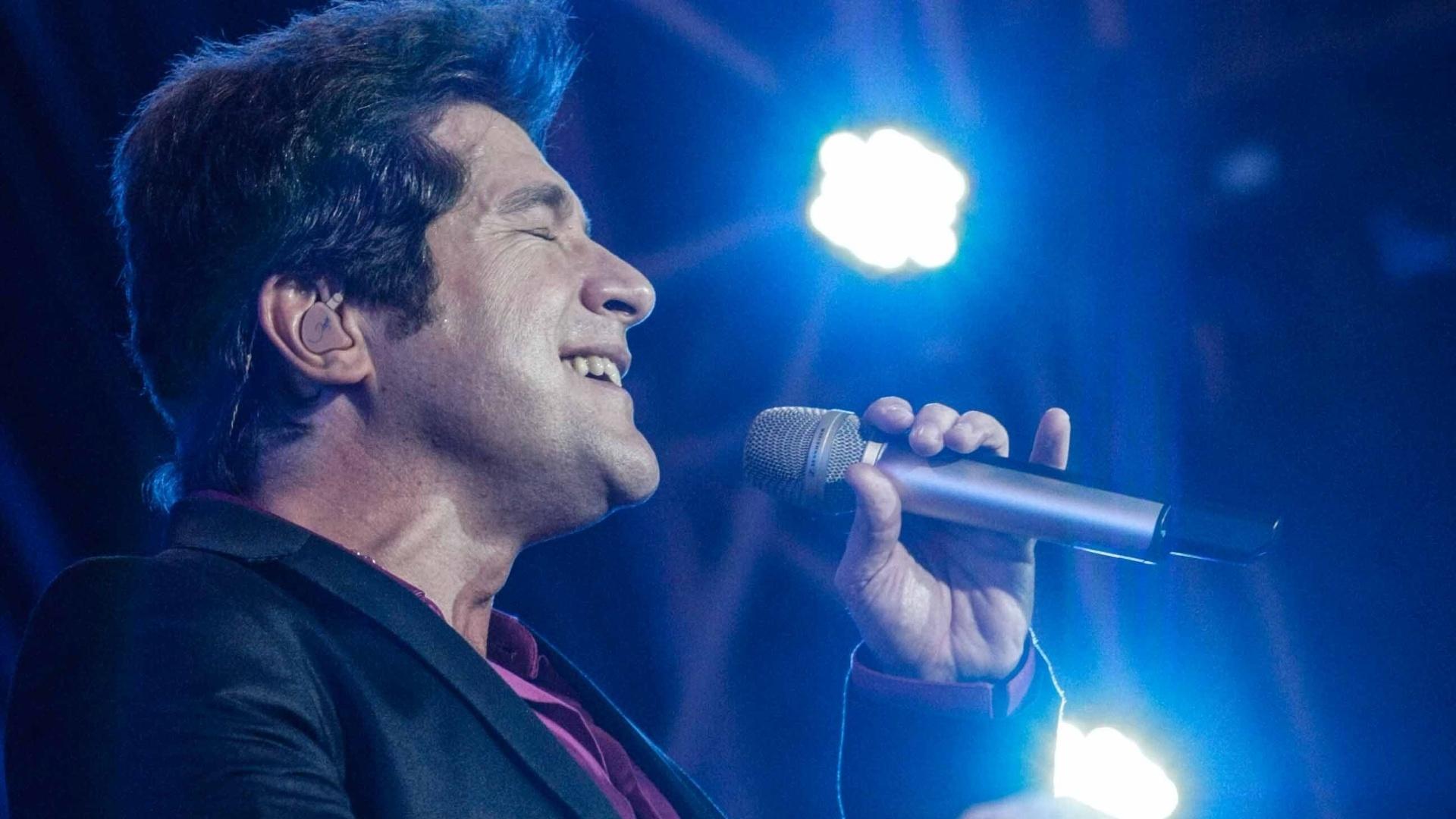 24.ago.2014- Cantor Daniel faz show na 59ª edição da Festa do Peão, no interior de São Paulo