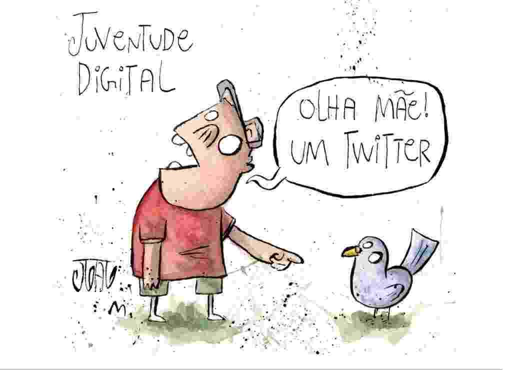 13.jun.2010 - Uma das primeiras charges de João Montanaro publicadas na Folha de S. Paulo, no caderno Ilustríssima, quando ele tinha 14 anos - João Montanaro/Folhapress