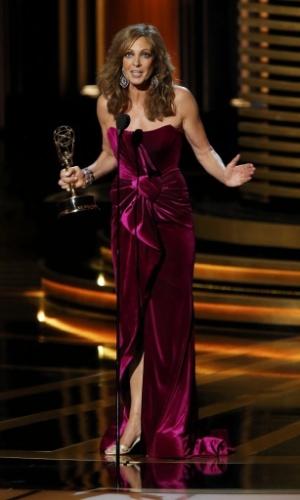 """25.ago.2014 - A atriz Allison Janney vence na categoria Melhor Atriz Coadjuvante de Comédia por """"Mom"""""""