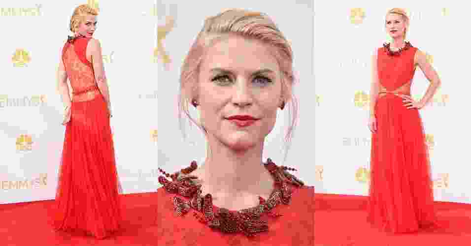 25.ago.2014 - A atriz Claire Danes no Tapete Vermelho do Emmy Awards - Frazer Harrison/Getty Images