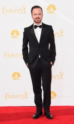 """25.ago.2014 - Aaron Paul, de """"Breaking Bad"""", prestigia a 66ª edição do Emmy Awards. O evento acontece no Nokia Theatre, em Los Angeles"""