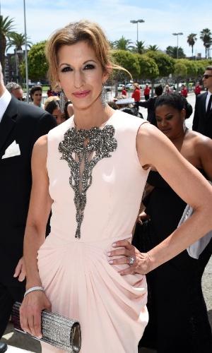 """25.ago.2014 -  Alysia Reiner, de """"Orange Is The New Black"""", prestigia a 66ª edição do Emmy Awards. O evento acontece no Nokia Theatre, em Los Angeles"""