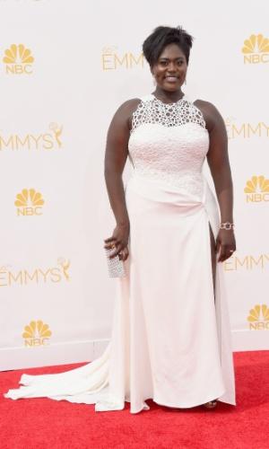 """25.ago.2014 - Danielle Brooks, de """"Orange Is The New Black"""", prestigia a 66ª edição do Emmy Awards. O evento acontece no Nokia Theatre, em Los Angeles"""