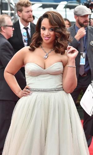 """25.ago.2014 - Dascha Polanco, de """"Orange Is The New Black"""", prestigia a 66ª edição do Emmy Awards. O evento acontece no Nokia Theatre, em Los Angeles"""