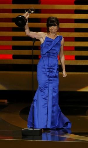 """25.ago.2014 - Gail Mancuso vence na categoria """"Melhor Diretor de Série de Comédia"""" por """"Modern Family"""""""