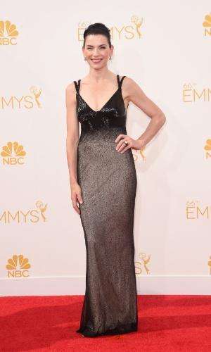 """25.ago.2014 - Indicada ao prêmio de melhor atriz por """"The Good Wife"""", Julianna Margulies prestigia a 66ª edição do Emmy Awards. O evento acontece no Nokia Theatre, em Los Angeles"""
