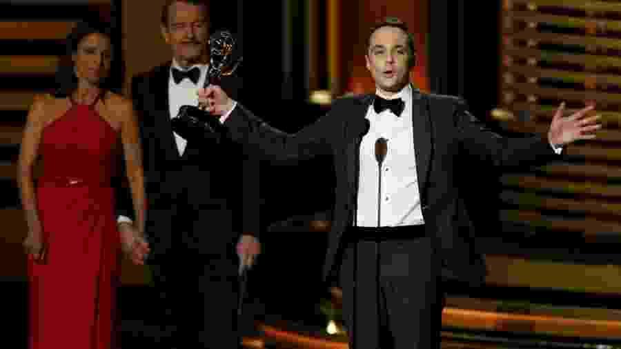 """25.ago.2014 - Jim Parsons vence na categoria Melhor Ator de Comédia por """"The Big Bang Theory"""". Este é o quarto Emmy conquistado pelo ator - Mario Anzuoni/Reuters"""
