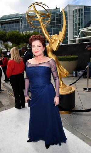 """25.ago.2014 -  Kate Mulgrew  prestigia a 66ª edição do Emmy Awards. O evento acontece no Nokia Theatre, em Los Angeles. A atriz está indicada ao prêmio de atriz coadjuvante pela série """"Orange Is The New Black"""""""