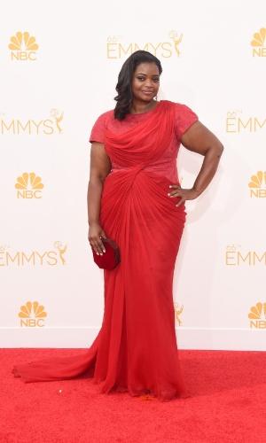 25.ago.2014 - Octavia Spencer prestigia a 66ª edição do Emmy Awards. O evento acontece no Nokia Theatre, em Los Angeles