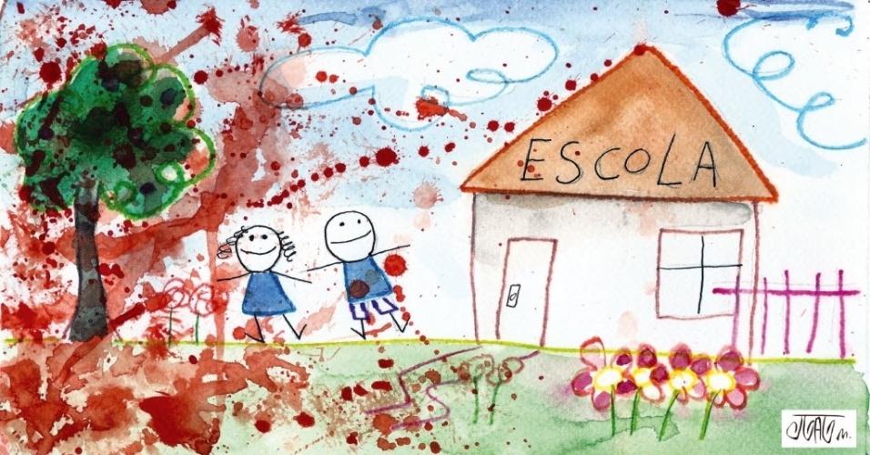 9.abr.2011 - O massacre na escola de Realengo, no Rio, em que 12 estudantes foram mortos por um ex-aluno, foi retrato com delicadeza e força dramática por Montanaro