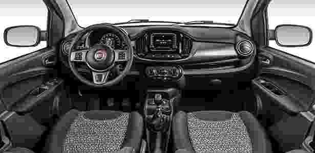 Fiat Uno 2015 interior - Divulgação - Divulgação
