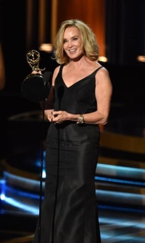 """25.ago.2014 - Jessica Lange vence na categoria de Melhor Atriz por Minissérie ou Filme para TV por """"American Horror Story"""""""