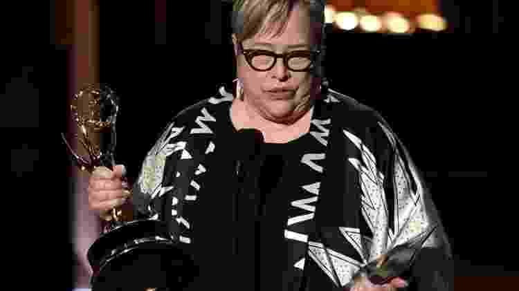 Kathy Bates venceu o Emmy de melhor atriz coadjuvante em minissérie ou telefilme por 'American Horror Story' em 2013 - Kevin Winter/AFP - Kevin Winter/AFP