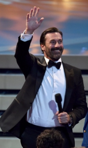 "25.ago.2014 - O Jon Hamm, de ""Mad Men"", é clicado na premiação da 66ª edição do Emmy Awards"