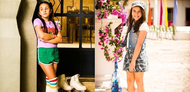 """Atriz Giovanna Rispoli como a Claudia de """"Boogie Oogie"""" e como a vilã Shirley na novela """"Em Família"""""""