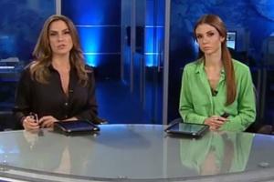 """Cláudia Barthel e Amanda Klein apresentam o """"Rede TV! News"""""""