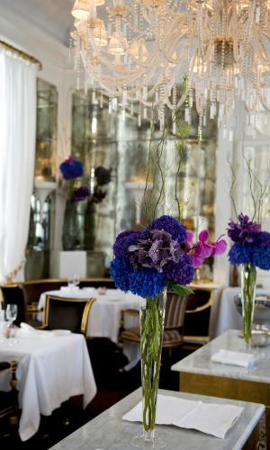 Detalhe da sala principal do restaurante do Hotel Majestic, na cidade eterna